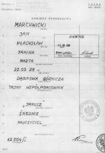 Jan Marchwicki IPN karta ewid